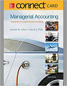 garrison managerial accounting w connect access code ebook